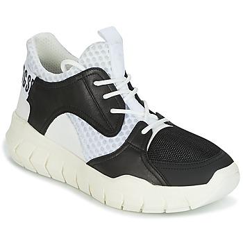 鞋子 男士 球鞋基本款 Bikkembergs FIGHTER 2022 LEATHER 黑色 / 白色