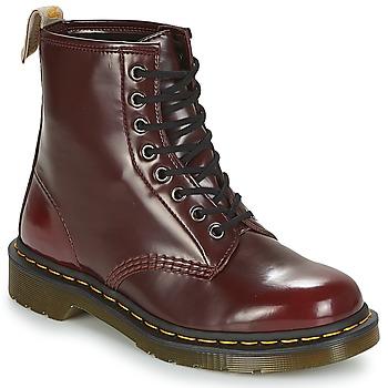 鞋子 短筒靴 Dr Martens VEGAN 1460 红色