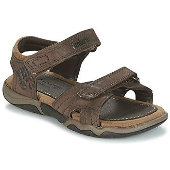 鞋子 儿童 运动凉鞋 Timberland 添柏岚 OAK BLUFFS 棕色