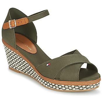 鞋子 女士 凉鞋 Tommy Hilfiger ICONIC ELBA SANDAL BASIC 绿色
