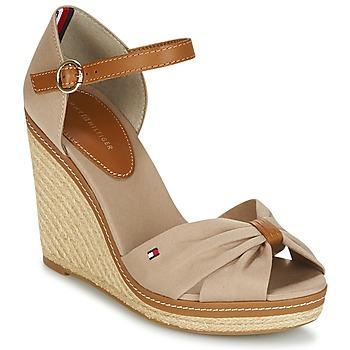 鞋子 女士 凉鞋 Tommy Hilfiger ICONIC ELENA SANDAL 米色