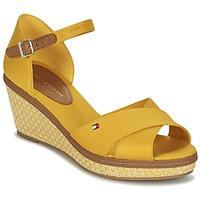 鞋子 女士 凉鞋 Tommy Hilfiger ICONIC ELBA SANDAL BASIC 黄色