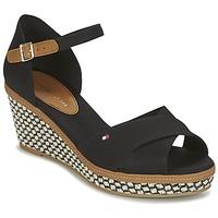 鞋子 女士 凉鞋 Tommy Hilfiger ICONIC ELBA SANDAL BASIC 黑色