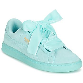 鞋子 女士 球鞋基本款 Puma 彪马 WNS SUEDE HEART RESET.BLUE 蓝色 / 粉蓝色