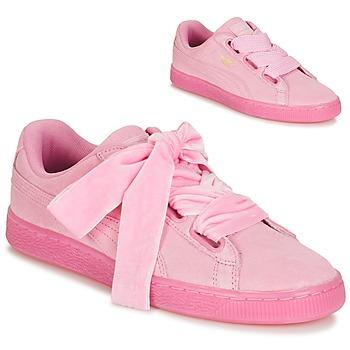 鞋子 女士 球鞋基本款 Puma 彪马 SUEDE HEART RESET WN'S 玫瑰色