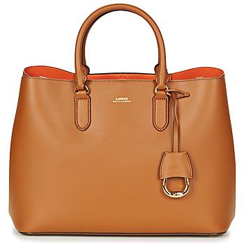 包 女士 手包 Lauren Ralph Lauren DRYDEN MARCY TOTE 棕色 / 橙色