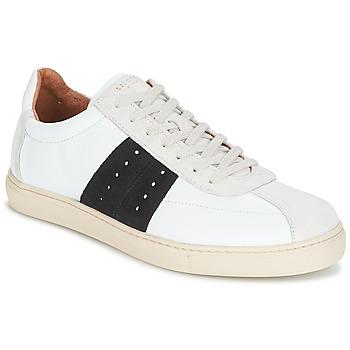 鞋子 男士 球鞋基本款 Selected 思莱德 SHNDURAN NEW MIX SNEAKER 白色 / 海蓝色