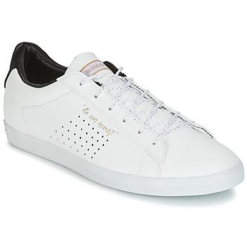 鞋子 女士 球鞋基本款 Le Coq Sportif 乐卡克 AGATE LO S LEA/SATIN 白色 / 黑色