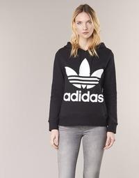 衣服 女士 卫衣 Adidas Originals 阿迪达斯三叶草 TREFOIL HOODIE 黑色