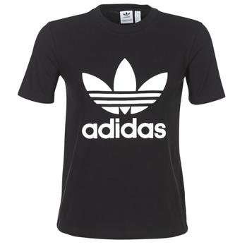 衣服 女士 短袖体恤 Adidas Originals 阿迪达斯三叶草 TREFOIL TEE 黑色
