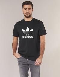 衣服 男士 短袖体恤 Adidas Originals 阿迪达斯三叶草 TREFOIL T SHIRT 黑色