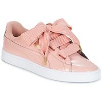 鞋子 女士 球鞋基本款 Puma 彪馬 BASKET HEART PATENT W'S 玫瑰色