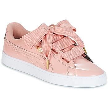 鞋子 女士 球鞋基本款 Puma 彪马 BASKET HEART PATENT W'S 玫瑰色