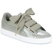 鞋子 女士 球鞋基本款 Puma 彪马 BASKET HEART PATENT W'S 灰色