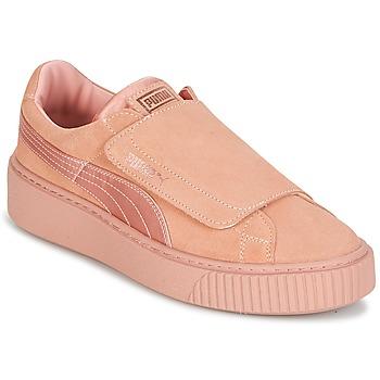 鞋子 女士 球鞋基本款 Puma 彪马 PLATFORMSTRAP SATIN EP W'S 玫瑰色