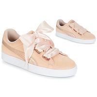 鞋子 女士 球鞋基本款 Puma 彪马 SUEDE HEART LUNALUX W'S 玫瑰色
