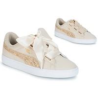 鞋子 女士 球鞋基本款 Puma 彪马 BASKET HEART CANVAS W'S 米色