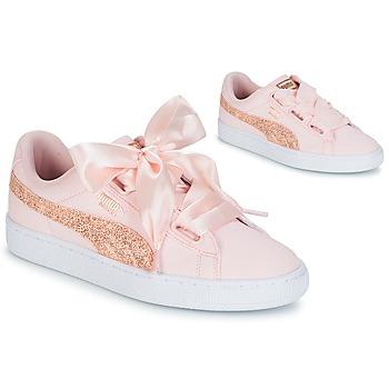 鞋子 女士 球鞋基本款 Puma 彪马 BASKET HEART CANVAS W'S 玫瑰色