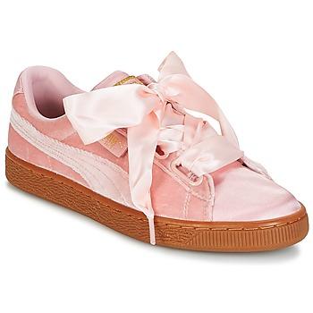 鞋子 女士 球鞋基本款 Puma 彪马 BASKET HEART VS W'N 玫瑰色