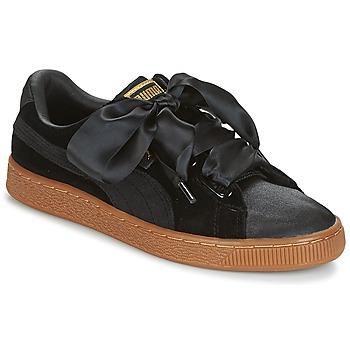 鞋子 女士 球鞋基本款 Puma 彪马 BASKET HEART VS W'N 黑色
