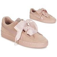 鞋子 女士 球鞋基本款 Puma 彪马 W SUEDE HEART EP 玫瑰色