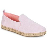 鞋子 女士 帆布便鞋 Toms DECONSTRUCTED ALPARGATA ROPE 玫瑰色