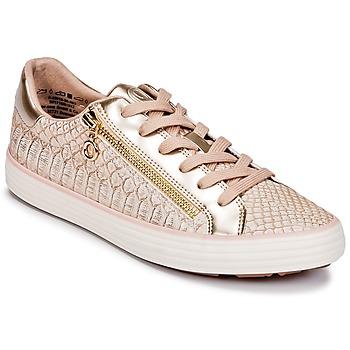鞋子 女士 球鞋基本款 S.Oliver BOOMBO 玫瑰色 / 金色