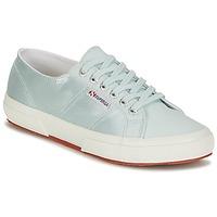 鞋子 女士 球鞋基本款 Superga 2750 SATIN W 蓝色 / 银灰色