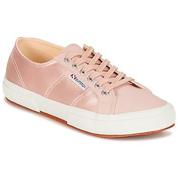 鞋子 女士 球鞋基本款 Superga 2750 SATIN W 玫瑰色