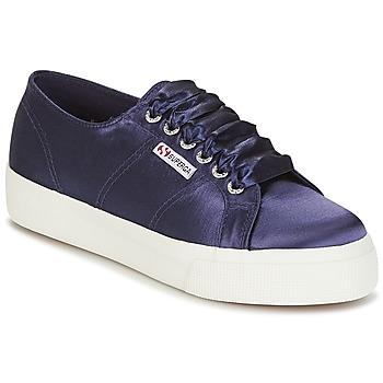 鞋子 女士 球鞋基本款 Superga 2730 SATIN W 海蓝色
