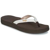 鞋子 女士 人字拖 Reef STAR CUSHION SASSY 棕色 / 白色