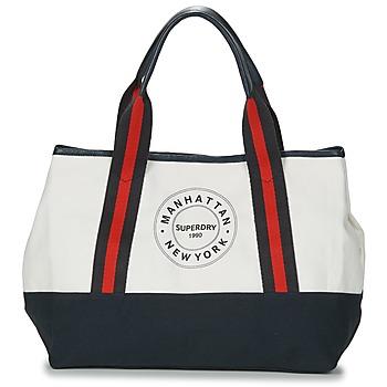 包 女士 购物袋 Superdry 极度干燥 BAYSHORE BEACH TOTE 白色 / 海蓝色 / 红色