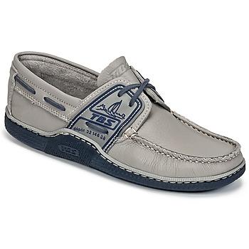 鞋子 男士 船鞋 TBS GLOBEK 灰色 / 藍色