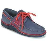 鞋子 男士 船鞋 TBS GLOBEK 藍色 / 紅色