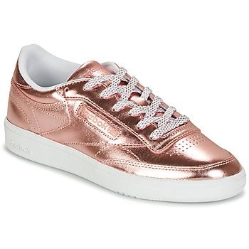 鞋子 女士 球鞋基本款 Reebok Classic CLUB C 85 S SHINE 玫瑰色 / 金属银