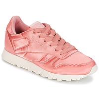 鞋子 女士 球鞋基本款 Reebok Classic CLASSIC LEATHER SATIN 玫瑰色