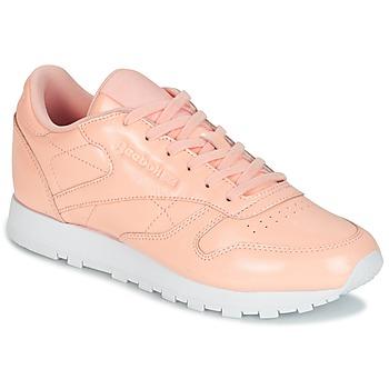 鞋子 女士 球鞋基本款 Reebok Classic CLASSIC LEATHER PATENT 玫瑰色