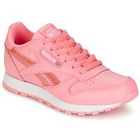 鞋子 女孩 球鞋基本款 Reebok Classic CLASSIC LEATHER SPRING 玫瑰色