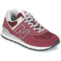 鞋子 女士 球鞋基本款 New Balance新百伦 ML574 波尔多红