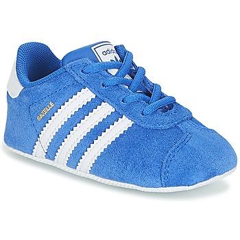 鞋子 男孩 球鞋基本款 Adidas Originals 阿迪达斯三叶草 GAZELLE CRIB 蓝色