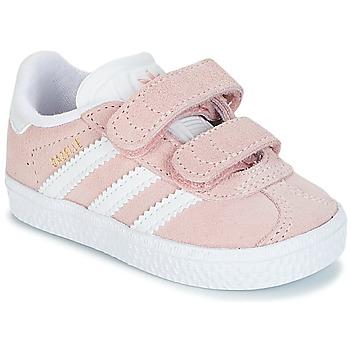 鞋子 女孩 球鞋基本款 Adidas Originals 阿迪达斯三叶草 GAZELLE CF I 玫瑰色