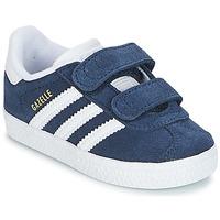 鞋子 儿童 球鞋基本款 Adidas Originals 阿迪达斯三叶草 GAZELLE CF I 海蓝色
