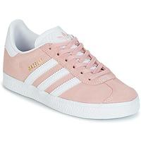 鞋子 女孩 球鞋基本款 Adidas Originals 阿迪达斯三叶草 GAZELLE C 玫瑰色