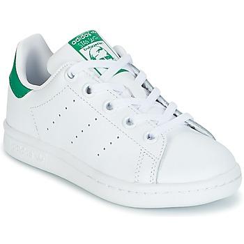 鞋子 儿童 球鞋基本款 Adidas Originals 阿迪达斯三叶草 STAN SMITH C 白色 / 绿色