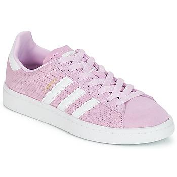 鞋子 女孩 球鞋基本款 Adidas Originals 阿迪达斯三叶草 CAMPUS J 玫瑰色