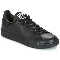 鞋子 儿童 球鞋基本款 Adidas Originals 阿迪达斯三叶草 STAN SMITH J 黑色