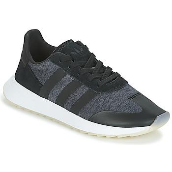 鞋子 女士 球鞋基本款 Adidas Originals 阿迪达斯三叶草 FLB RUNNER W 黑色