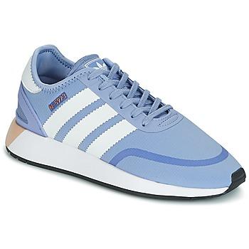 鞋子 女士 球鞋基本款 Adidas Originals 阿迪达斯三叶草 INIKI RUNNER CLS W 蓝色