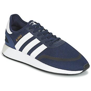 鞋子 球鞋基本款 Adidas Originals 阿迪达斯三叶草 INIKI RUNNER CLS 海蓝色