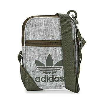 包 小挎包 Adidas Originals 阿迪达斯三叶草 FESTIVAL BAG 灰色 / 黑色